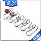 New design wholesale piercing jewelry stainless steel CZ ear stud