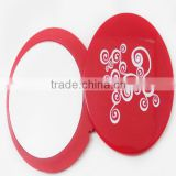 flower patterned mirror / carved wooden mirror frames round mirror / plastic hand mirror