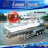 42kl Aluminum Alloy Fuel Oil Tanker Semi Trailer/ Stainless Steel Tank Trailer for sale                                                                         Quality Choice