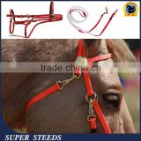 red and white pvc coated webbing bitless horse bridle