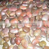 Wholesale Red Cobble Stone Red River Stone for Garden Decoration