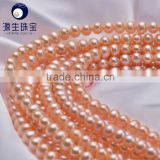 wholesale natural fresh water pearl strands pink 8-9mm AAA high luster and clear surface