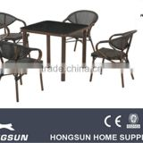 Nice highe quality outdoor dining funiture set 4pcs chairs table set