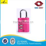 13005 Luggage TSA Approved 3 Dial Zinc Alloy Change Combination Padlock                                                                         Quality Choice