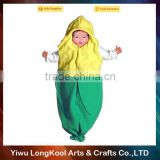 2016 New arrival hot sale kids carnival masquerade cosplay costume peas vegetable costume
