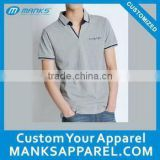 custom mens bamboo fiber polo shirt