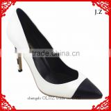 OP10 factory price White color Women Pump High Heel Dress shoes