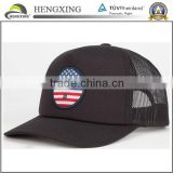 Design mesh cap 5 panel mesh baseball cap with woven patch                                                                         Quality Choice