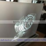 Best price rear screen film semi projection screen fabric,high contrast grey color,for shop
