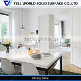 Contemporary high quality white marble european style kitchen tables/kitchen dining table design
