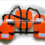 jiangsu manufacture PVC foam work life vest, red three pieces life vest