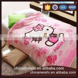Lovely Cat Printed Coral Fleece Blanket on Bed fabric cobertor mantas Bath Plush Towel Air Condition Sleep Cover bedding