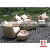 Manufacturer wholesale Iron n Aluminum frame Garden Sectional Sofa/Lounge Furniture/ Cheap Outdoor Wicker Rattan Furniture set