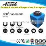 360 degree panoramic Action Camera 2.4GHZ Remote Cube 360 WiFi 4k@30fps 360 Degree Wide Angle Sports Cam Recorder with 8 effect