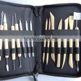 Fashion Hot Durable New Pottery Polymer Clay Sculpting Tool Set In Zippered Case Pottery Tool