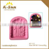 K-sun cartoon bark brick stone wodden door fondant cake decorating silicone mold bakery mold