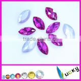 Wholesale Bling glass diamante stone for rhinestones jewelry making supplies or crystal decorations