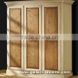 Plain simple wardrobe with 3 doors - Armoire White - French Furniture Painted