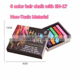 Wholesale 6color temporary hair color dye chalk hair chalk pen pink blue red hair color dye green