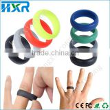 Latest food grade silicone finger ring boys fashion silicone ring silicone wedding ring logo custom