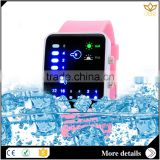 Healthy silicone waterproof blue light big face touch screen Japan movt waterproof digital watch 7015B