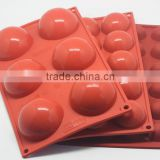 2.8cm Ball Silicone Cake Mold Hemisphere Moulds for Soap Chocolate Fondant 6 Cups Cake Tools