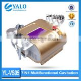 2015 New Ultrasonic Vacuum Cavitation Cavitation Lipo Machine RF BIO Slimming Machine YL-VS05 7in1 Ultrasonic Cavitation Body Sculpting