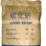 Hot sale of 60% sodium sulphide yellow flakes