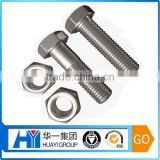 customized high quality stainless steel chrome plated hex bolt and nut