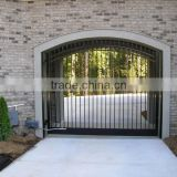 metal Security Gate/ galvanized powder coated steel farm fence gate