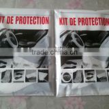 protective car clean kits /Disposable Plastic Car Clean Kits for Automotive