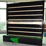 indoor artificial waterfall wall room divider with led light