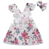 Girls Boutique Princess Dress Children Summer Clothing Baby Girls Ruffle Lace Party Birthday Dresses