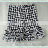 pekkle baby clothes black and white squares style fashion girl ruffle children's sequins cycling shorts
