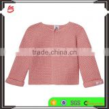 Hot sale 2017 custom new style kids sweater pink children Knitted cotton cardigan cashmere sweater for baby