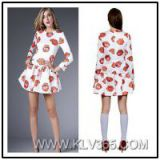 2015 Ladies Fashion Spring Dress floral Printed Dress