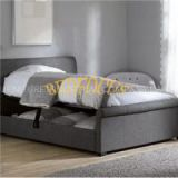 Queen Size Fabric Hotel Storage Bed BED-F-025