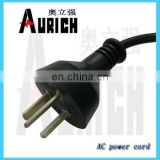 Argentina 16a 250v plug adapter,2 flat pin 3 round pin power cord,15a plug inserts 3round pin power cord with plug