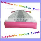 Commercial inflatable air tumble track for gym