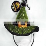 Witch hat on the headdress for halloween party plush witch hat headband