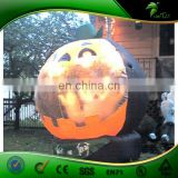 Hongyi Custom Advertising Inflatable Pumpkin Balloon with LED Light, Inflatable Halloween Ornament for Sale