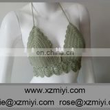 Wholesale 2015 Summer Trends Crochet Green Brazilian Bikini Top,Crochet Halter Top, Crop Top