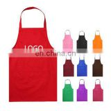 custom logo Printed Kitchen Cotton Cooking Apron