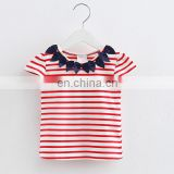 Fashion cotton kids clothing short sleeve girls boutique apparel ruffle baby clothes