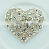 Latest Fashion rhinestone heart buckle,buckles metal