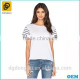 2016 China Factory OEM Service Wholesales 100% Cotton Lady T shirt