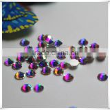 Top Quality very bright Nail Art rhinestones crystal AB clour silver flatback non hotfix rhinestones for DIY Nails decoration