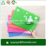 office/school wholesale pp plastic file bag document a4 wallet