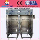 Hot air round cycle drying machine with drying cart and tray, hot sale drying fruit machines