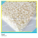 Plastic Pearls 6mm Hot Fix Type White Color One Bag 10000 Pcs